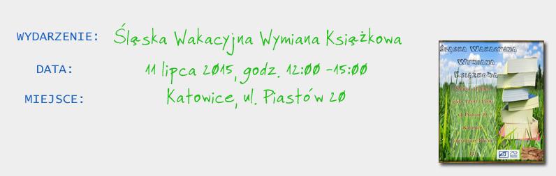 Śląska Wakacyjna Wymiana Książkowa!
