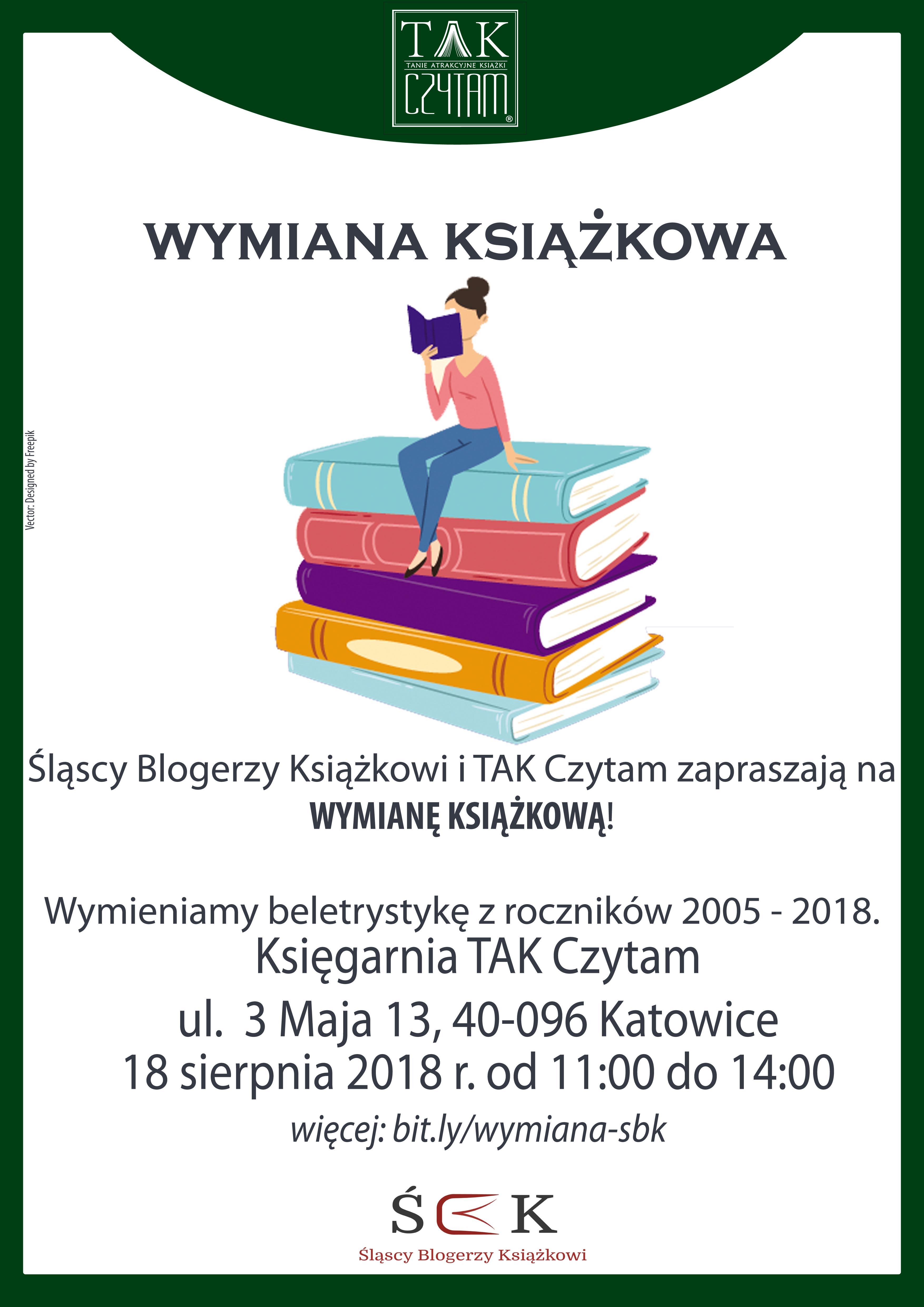 18.08.18: Wymiana Książkowa w TAK Czytam