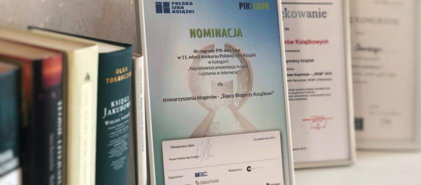 Śląscy Blogerzy Książkowi wśród nominowanych do PIK-owego Lauru 2019!